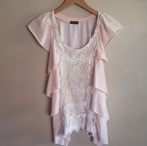 Vintage lace and ruffle shirt